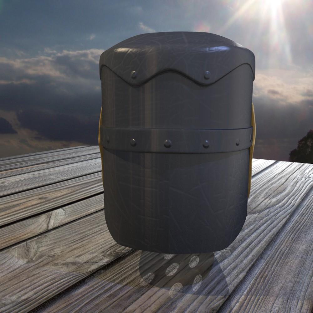 norman knight helmet 3d model fbx blend dae obj 118373
