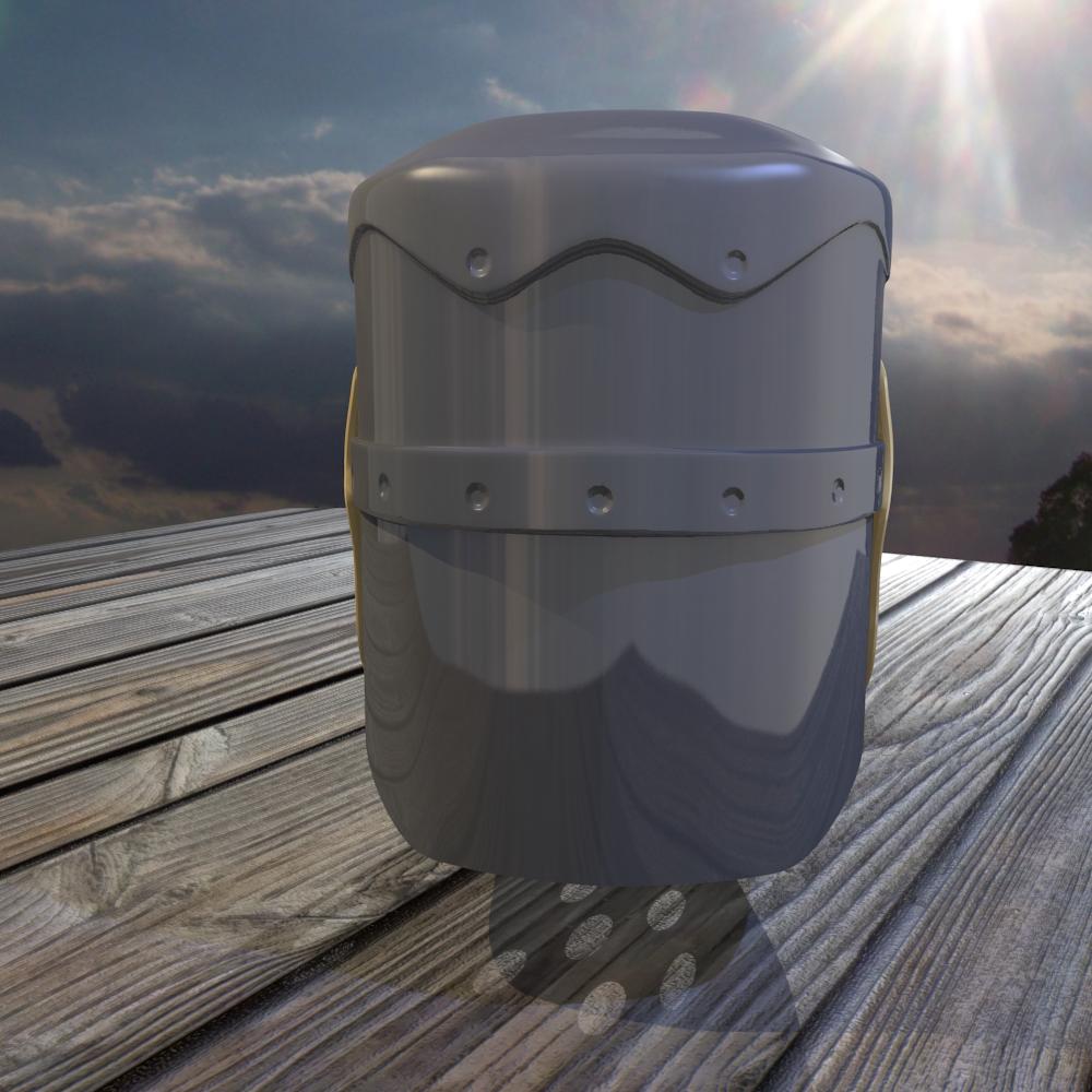 norman knight helmet 3d model fbx blend dae obj 118374