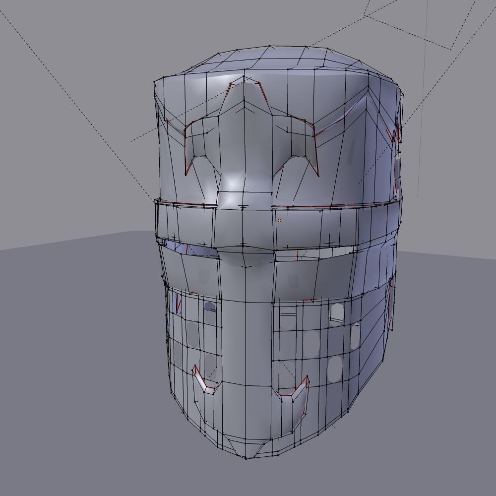norman knight helmet 3d model fbx blend dae obj 118375