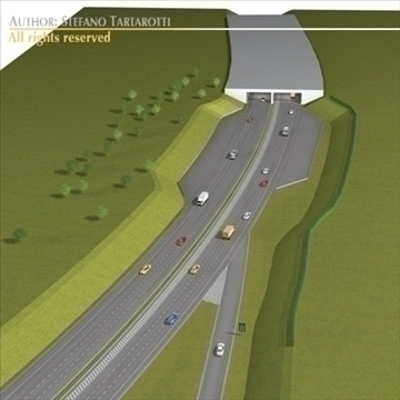 highway scene 3d model 3ds dxf c4d obj 104377
