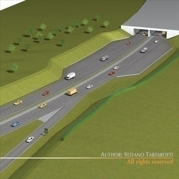 highway scene 3d model 3ds dxf c4d obj 104381