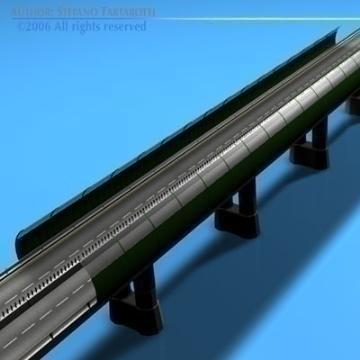 highway viaduct 3d model 3ds dxf c4d obj 78398