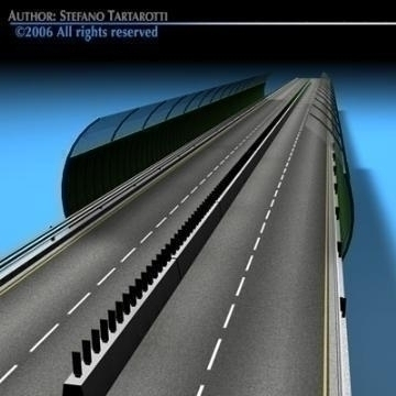 highway viaduct 3d model 3ds dxf c4d obj 78399