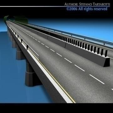 highway viaduct 3d model 3ds dxf c4d obj 78400