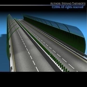 highway viaduct 3d model 3ds dxf c4d obj 78401
