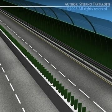 highway viaduct 3d model 3ds dxf c4d obj 78402