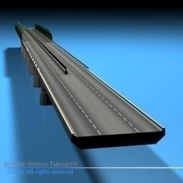 highway viaduct 3d model 3ds dxf c4d obj 78403