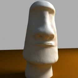 3D Model of Easter Island Moai Statue ( 83.18KB jpg by 3rdincentive )
