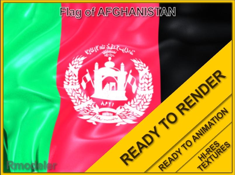 afganistan 3d flag 3d model ma mb 117557