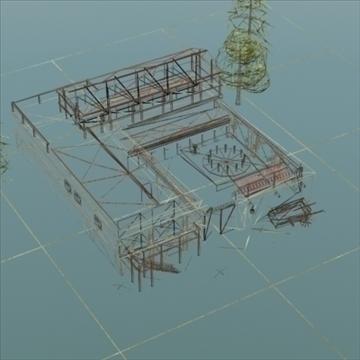 celtniecības komplekss ar pagalmu 3d modelis 3ds max fbx lwo ma mb hrc xsi faktūra obj 107680