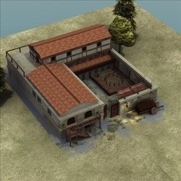 celtniecības komplekss ar pagalmu 3d modelis 3ds max fbx lwo ma mb hrc xsi faktūra obj 107681
