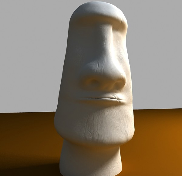 of easter island moai statue 3d model max tiff obj 147558