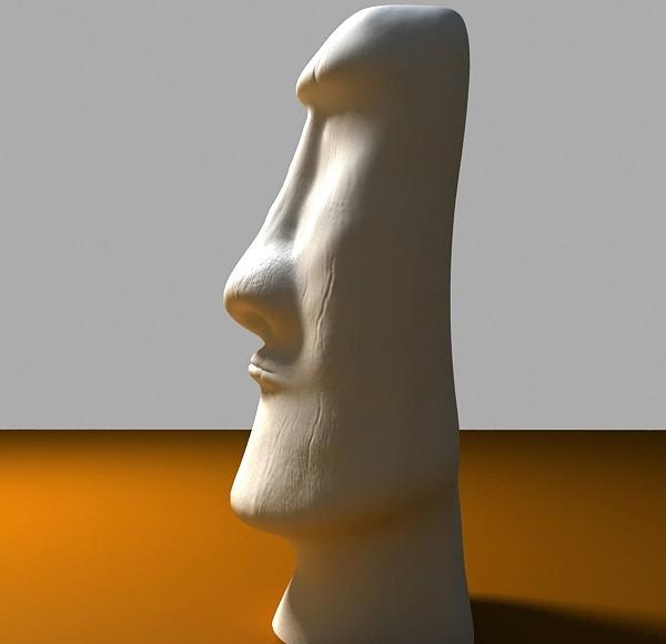 de oileán na Cásca moai dealbh 3d model max tiff obj 147559