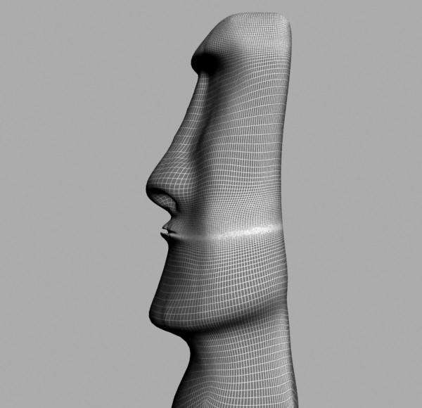 de oileán na Cásca moai dealbh 3d model max tiff obj 147560