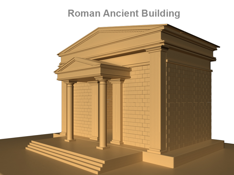roman ancient building 3d model 3ds fbx c4d lwo ma mb obj 124748