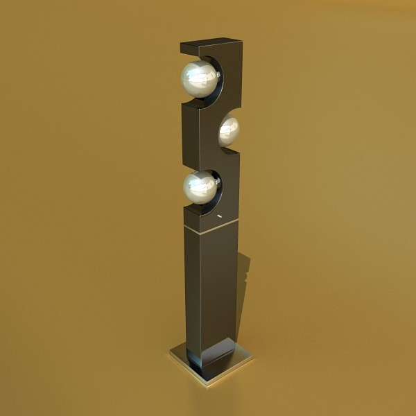 10 llums de peu moderns 3d model 3ds max fbx obj 135284