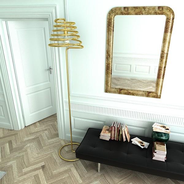 10 mūsdienu grīdas lampas 3d modelis 3ds max fbx obj 135316