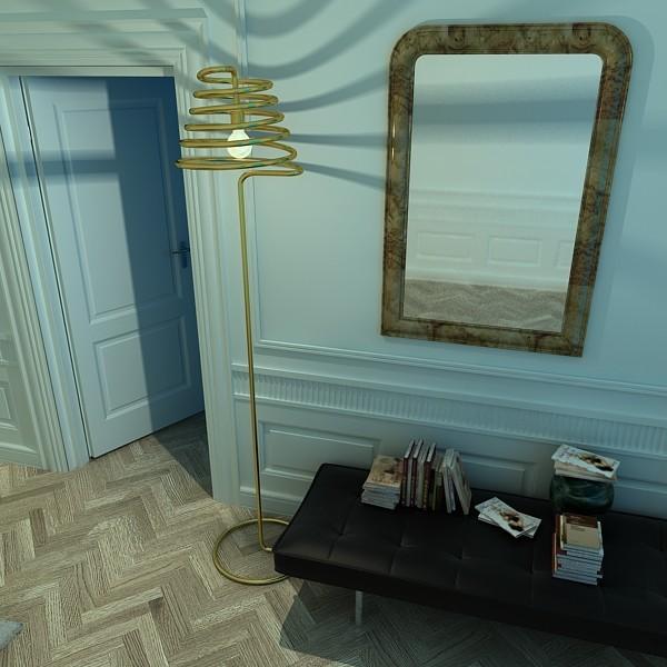 10 mūsdienu grīdas lampas 3d modelis 3ds max fbx obj 135317