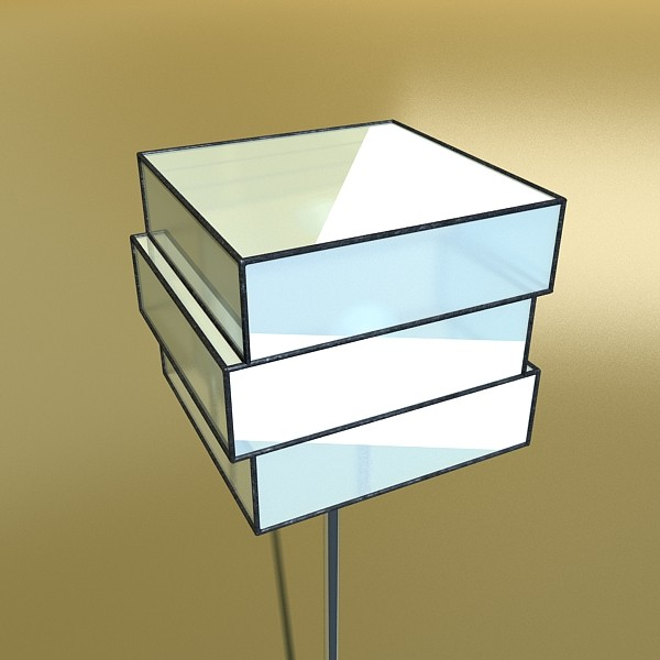 10 lampau llawr modern Model 3d 3ds max fbx obj 135323