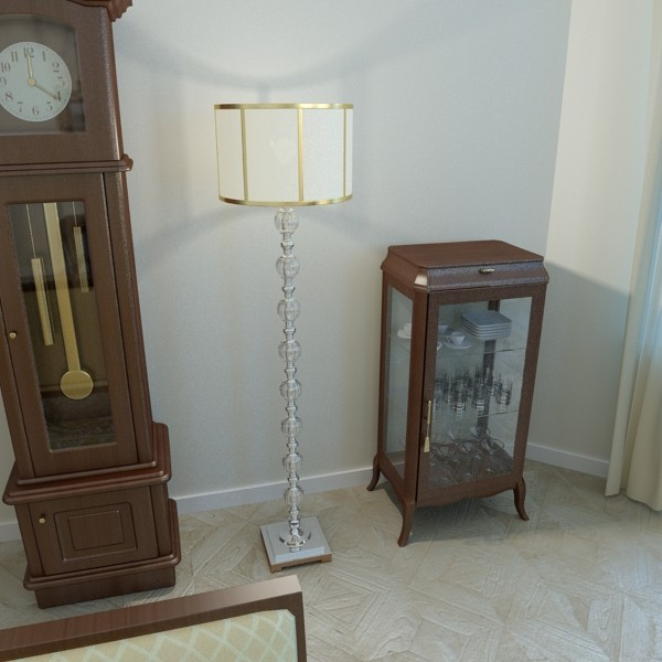 10 lampau llawr modern Model 3d 3ds max fbx obj 135344