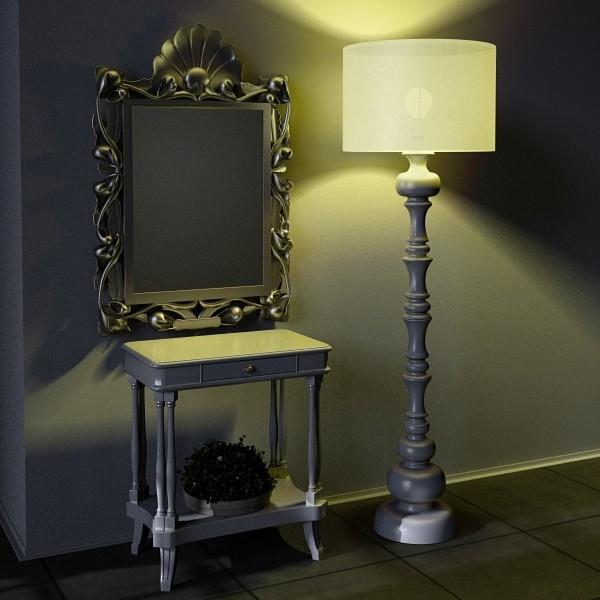 10 lampau llawr modern Model 3d 3ds max fbx obj 135373