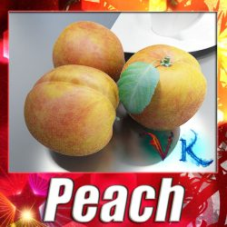 3D Model Photorealistic Peach High Resolution ( 136.36KB jpg by VKModels )