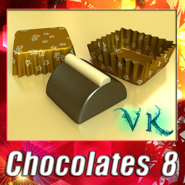 chocolate candy 08 high res 3d model 3ds max fbx obj 132431