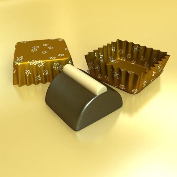 şokolad konfet 08 yüksək res 3d model 3ds max fbx obj 132436