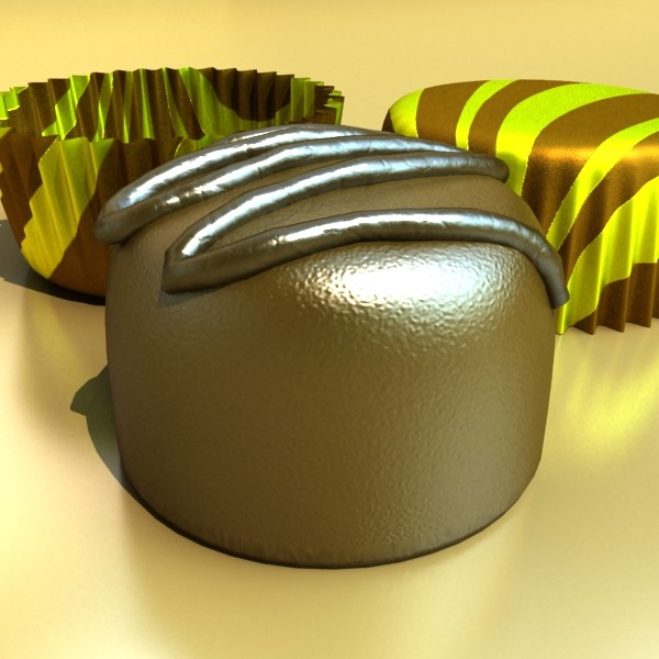 chocolate candy pieces in heart box 8 3d model 3ds max fbx obj 132513