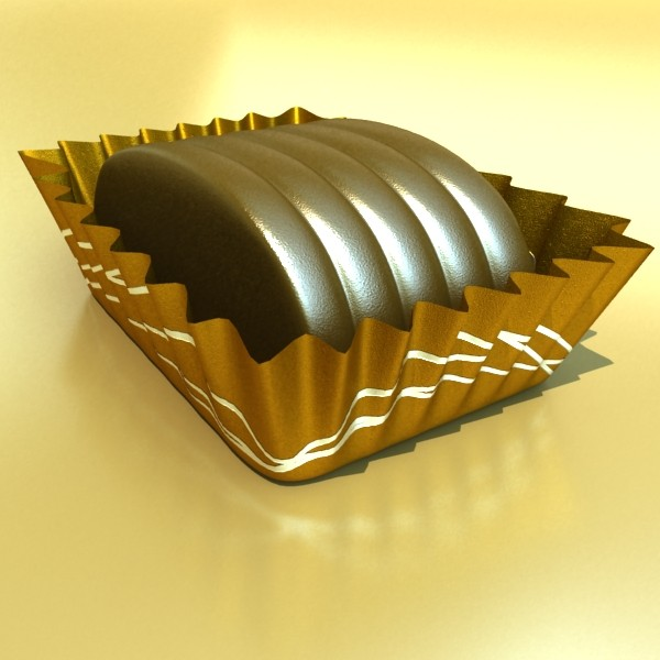 chocolate candy pieces in heart box 8 3d model 3ds max fbx obj 132524