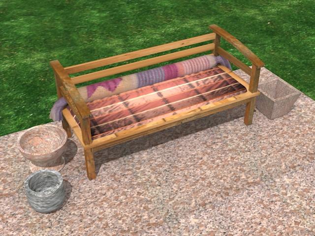 garden wooden sofa 3d model max 113421