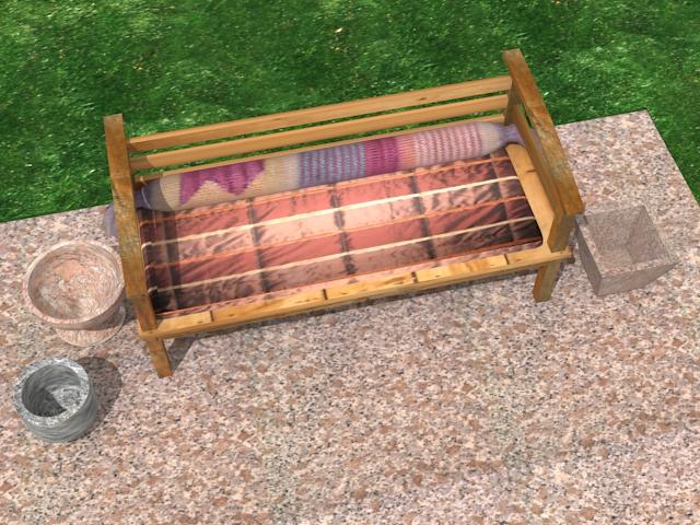 garden wooden sofa 3d model max 113422
