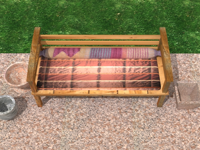 garden wooden sofa 3d model max 113424