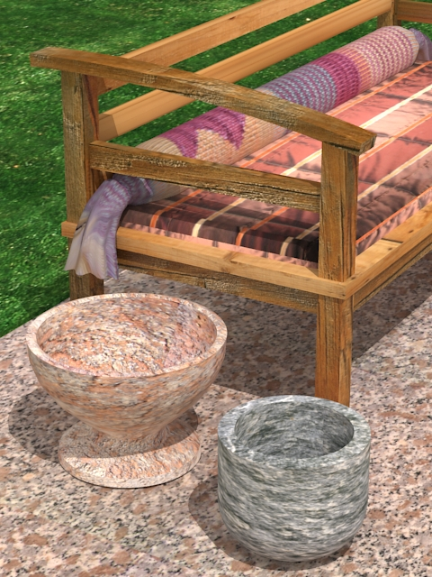 garden wooden sofa 3d model max 113426