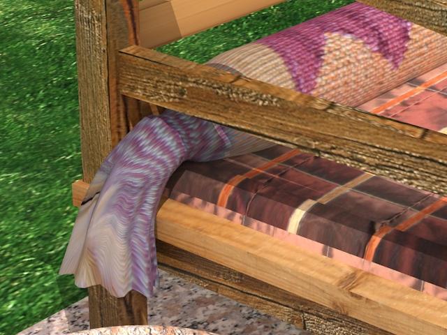 garden wooden sofa 3d model max 113427