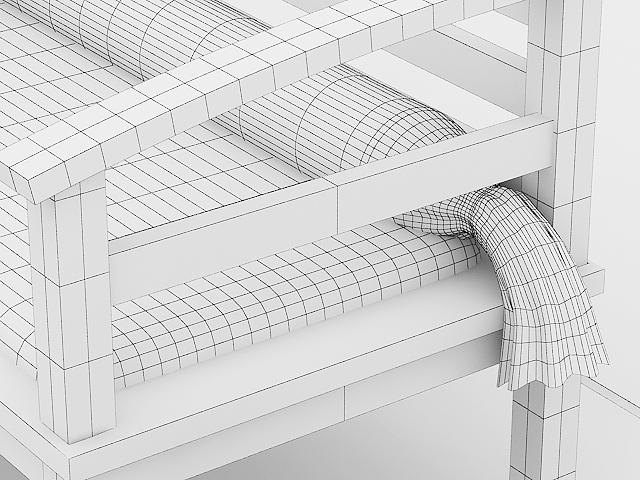 garden wooden sofa 3d model max 113429