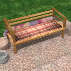 share this 3d model - Garden Furniture 3d Model