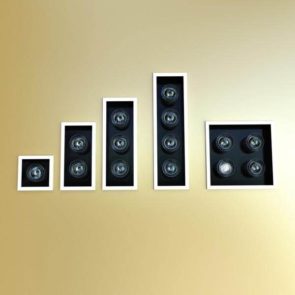 halogen lamps collection 15 items 3d model 3ds max fbx obj 134649