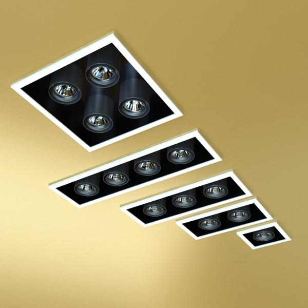 halogen lamps collection 15 items 3d model 3ds max fbx obj 134651