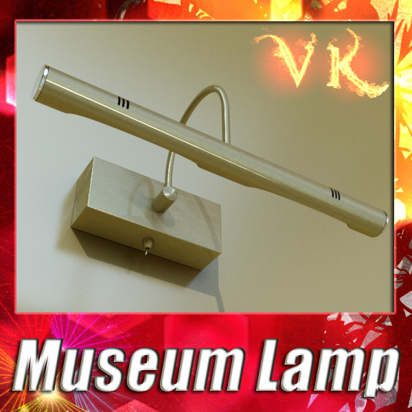 museum or gallery artwork light 3d model 3ds max fbx obj 134846