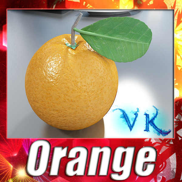 orange high detailed 3d model 3ds max fbx obj 132634