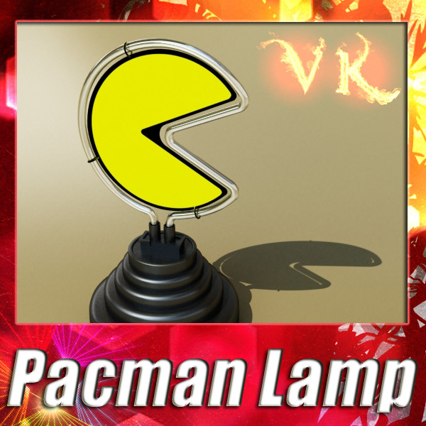 pacman table lamp 3d model 3ds max fbx 134877