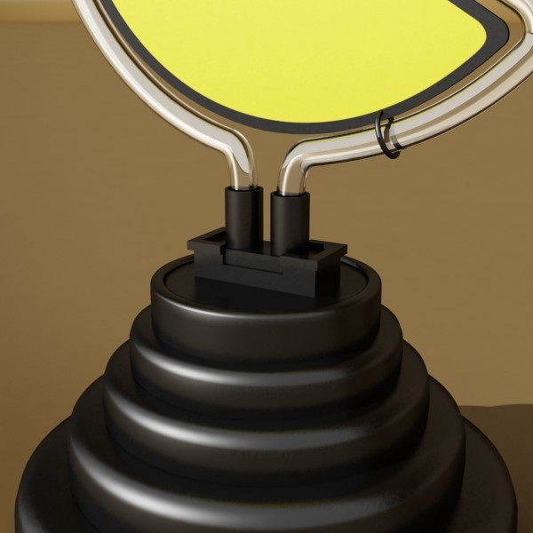 pacman table lamp 3d model 3ds max fbx 134883