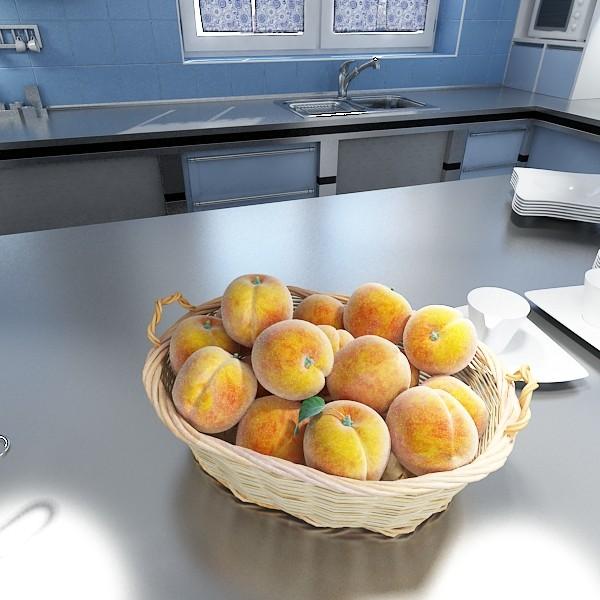 peaches in basket 3d model 3ds max fbx obj 132858