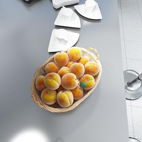 peaches in basket 3d model 3ds max fbx obj 132859