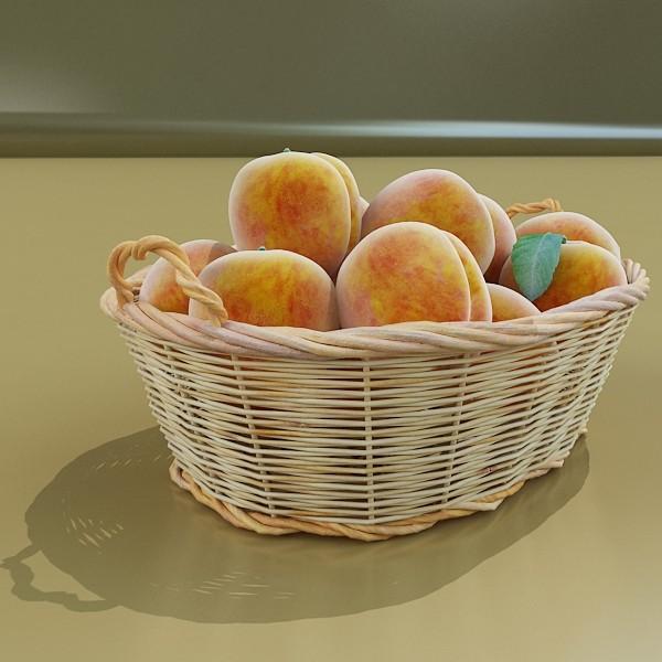 peaches in basket 3d model 3ds max fbx obj 132862
