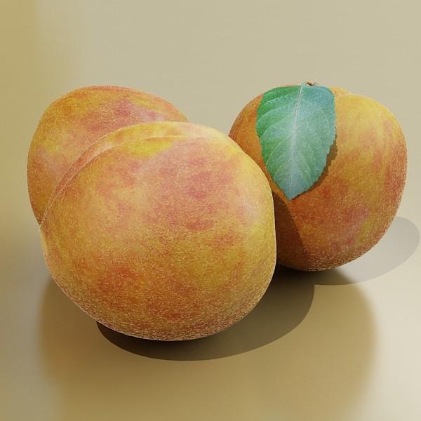 peaches in basket 3d model 3ds max fbx obj 132870