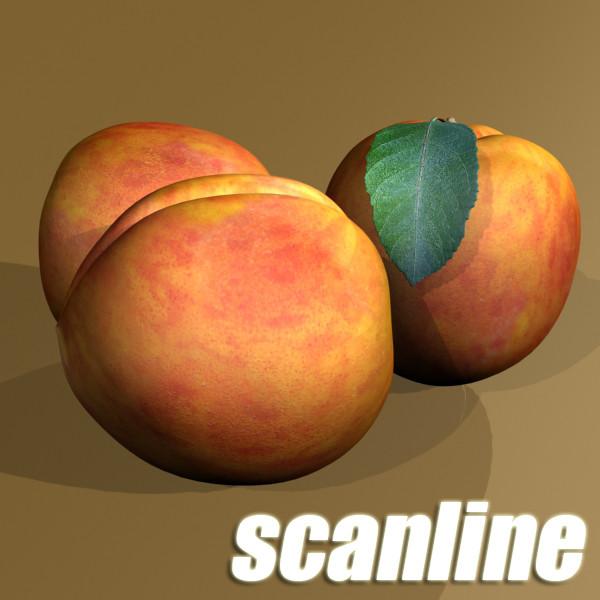 peaches in basket 3d model 3ds max fbx obj 132873