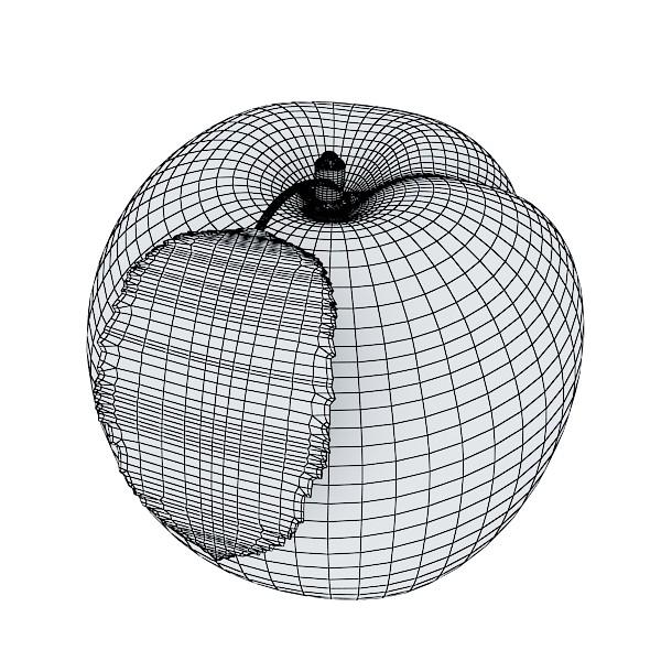 peaches in basket 3d model 3ds max fbx obj 132875
