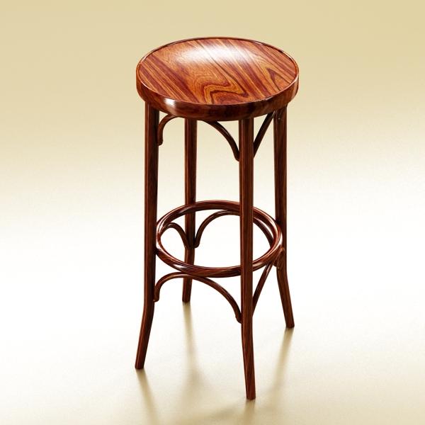 photorealistic bar stool 3d model 3ds max fbx obj 148129